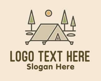 Camp - Tent Outdoor Camping logo design