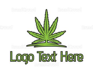Joint - Outline Cannabis logo design