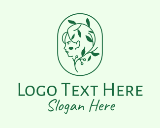 Shampoo - Green Eco Lady logo design