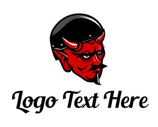 Biker - Red Devil Biker logo design