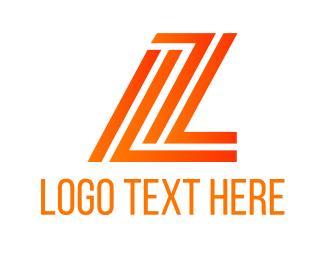 Letter Z - L & Z logo design