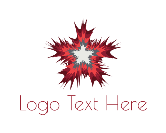 Explosion - Star Burst logo design