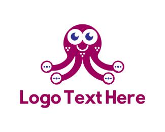 Octopus - Ellipsis Octopus logo design