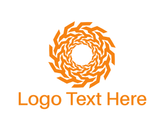 Tan - Solar Circle logo design
