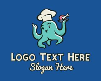 Chef - Octopus Restaurant Chef logo design