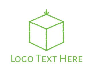 Green Box - Bamboo Cube logo design