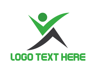 Run - Green Black Wellness logo design