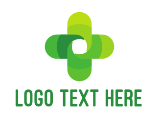 Wellbeing - Green Cross logo design