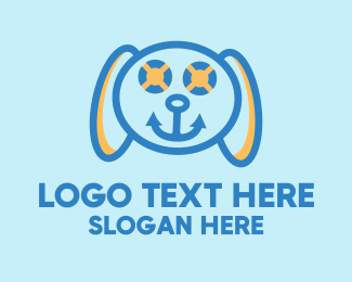 Doggie - Marine Dog logo design