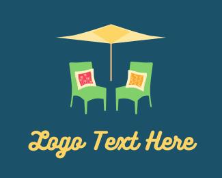 Pillow - Garden Chairs logo design