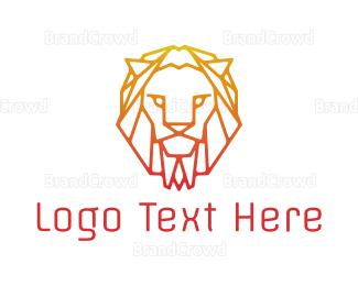 Accountant - Gradient Orange Lion logo design