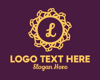 Detailed - Gold Elegant Lettermark logo design