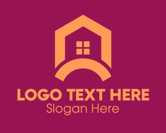 Roofing Service - Orange House Renovation logo design