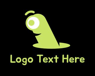 Worm - Green Worm logo design