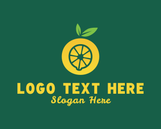 Lemon - Yellow Lemon Letter O logo design