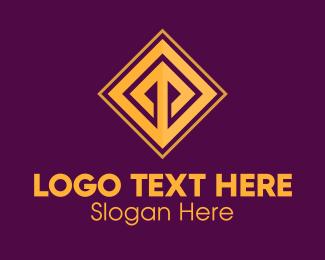 Wealthy - Golden Elegant Tile logo design