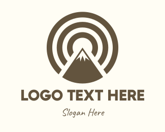 Mountain Climbing - Mountain Peak Circle logo design