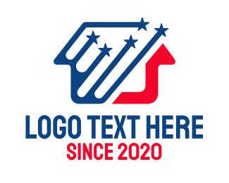 Patriot - Patriotic Star House logo design