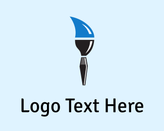 Blue Paintbrush Logo