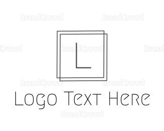 Framing - Elegant Square Frame logo design