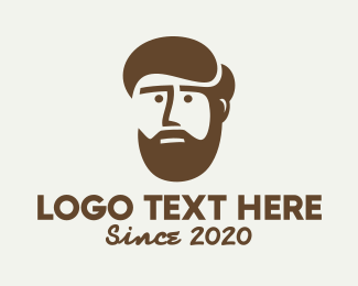 Dude - Brown Bearded Dad logo design