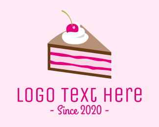 Cake - Pink Cherry Cake logo design