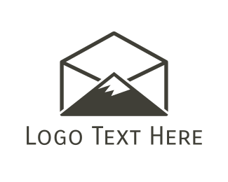 Peak - Peak Mail logo design