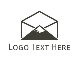 Switzerland - Peak Mail logo design