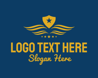Pilot Training - Star Shield Wings logo design