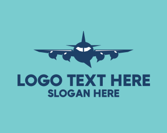 Messaging App - Plane Chat Bubbles logo design