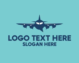 Forum - Plane Chat Bubbles logo design