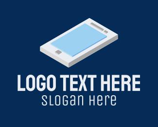 Mobile Phone - 3D Mobile Phone logo design