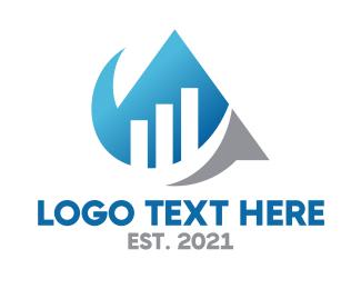 Financial Advisor - Modern Triangle Statistics logo design