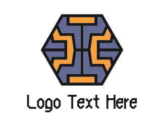 Geometrical - Tech Hexagon logo design