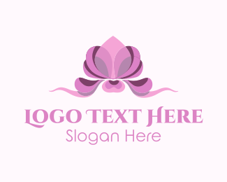 Beauty Salon - Pink Beauty Orchid logo design