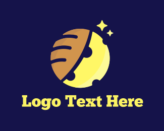Bread - Moon & Bread logo design