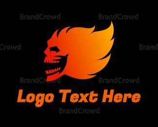 Blaze - Blazing Ghoul logo design