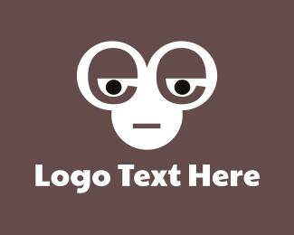 Ape - Chimpanzee Face logo design