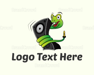 Music Equipment - Music Snake logo design