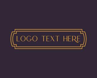 Legend - Gold Label Wordmark logo design