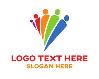 Recruiter - Diverse People logo design