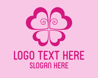 Skin Care - Pink Butterfly Flower logo design