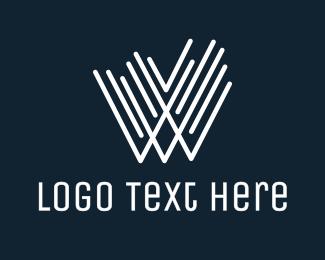 World Wide Web - White W Line Stroke logo design