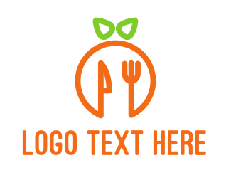 Cutlery - Orange Cutlery logo design
