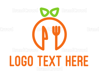 Green And Orange - Orange Cutlery logo design