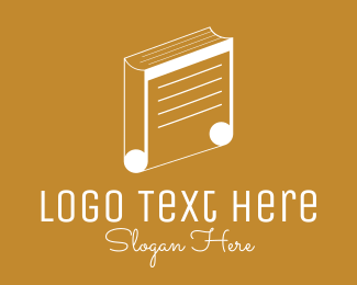 School - Music School Book logo design