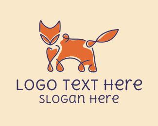 Coyote - Abstract Fox logo design
