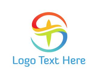 Letter - Cross Letter S logo design