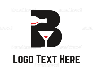 Bartending - Black Drink logo design