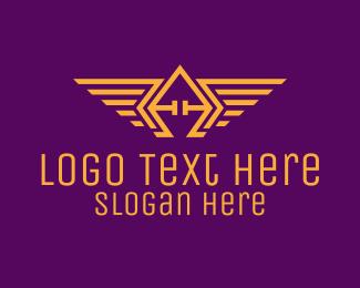 Clan - Golden Wings Badge logo design